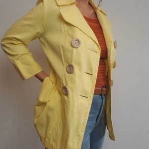 Vintage Textured Woven Double Breasted Jacket Coat